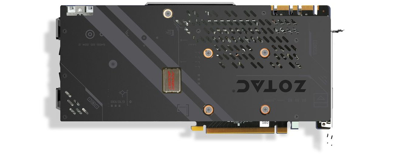 Zotac Geforce GTX 1070 Backplate
