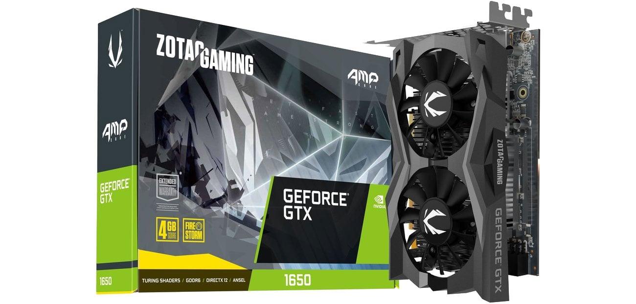 Karta graficzna NVIDIA Zotac GeForce GTX 1650 Gaming AMP CORE GDDR6 4GB ZT-T16520J-10L
