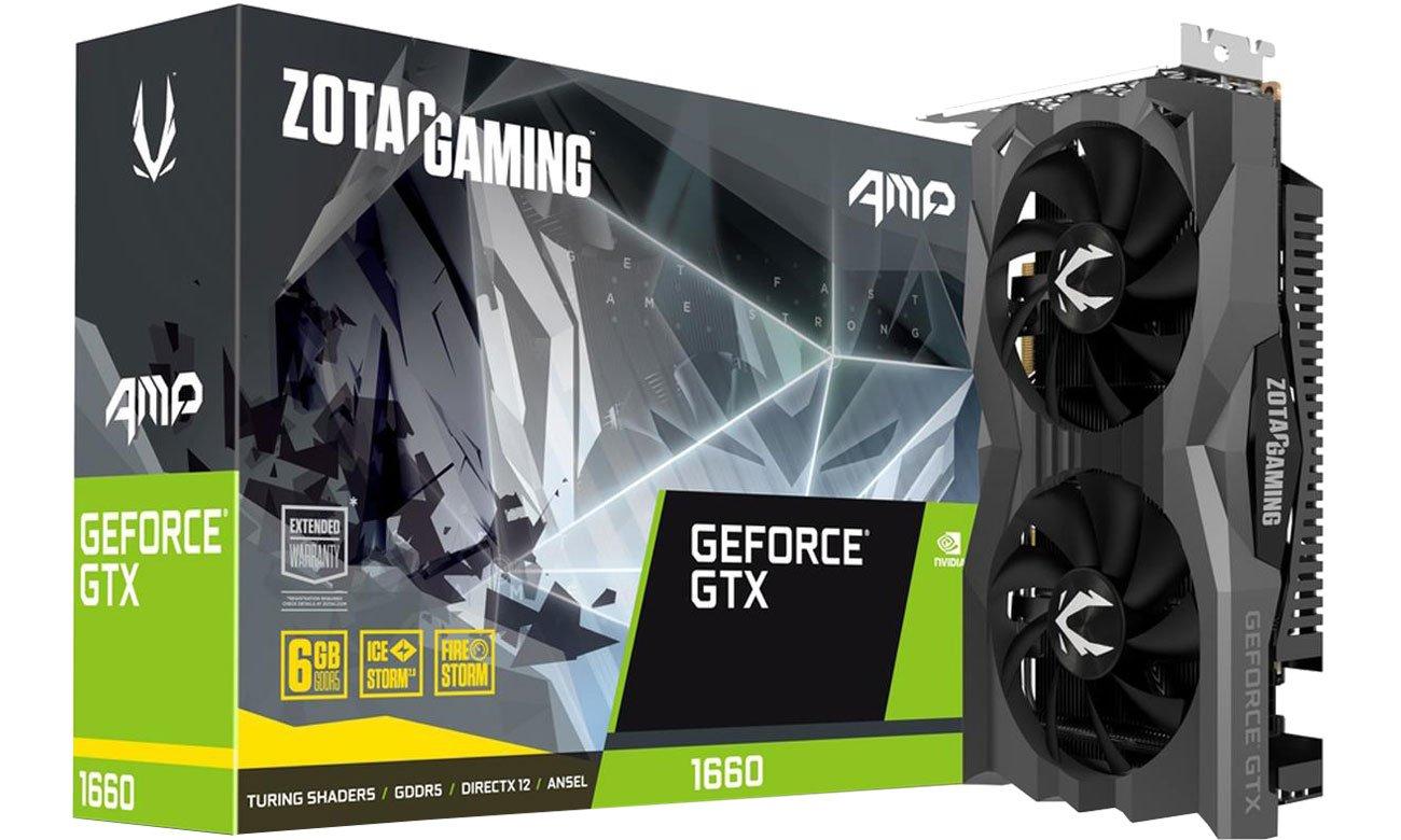 Karta graficzna NVIDIA Zotac GeForce GTX 1660 Gaming AMP 6GB GDDR5 ZT-T16600D-10M
