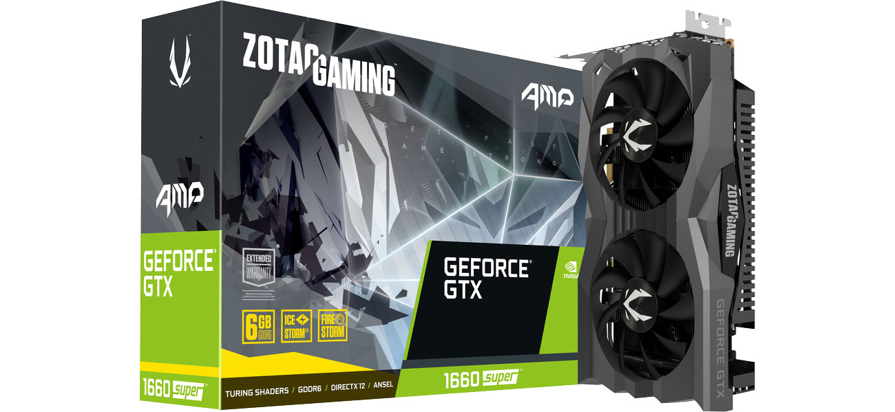 Karta graficzna NVIDIA Zotac GeForce GTX 1660 SUPER AMP 6GB GDDR6 ZT-T16620D-10M