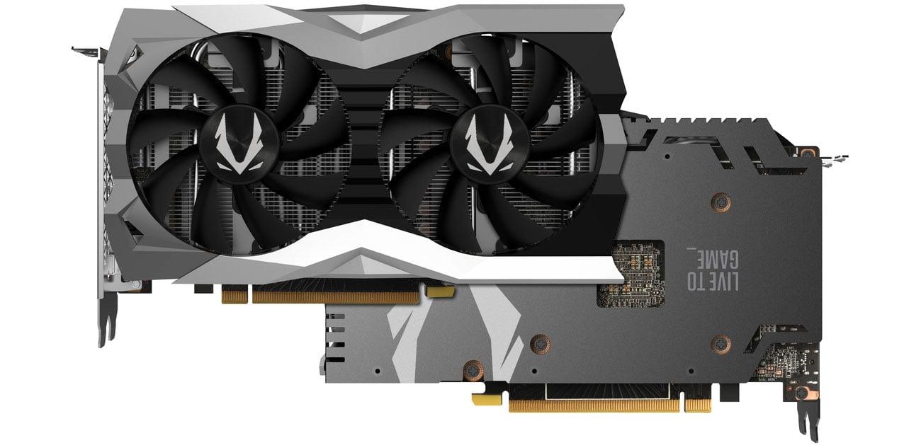 Zotac GeForce RTX 2060 AMP Chłodzenie Przód i tył