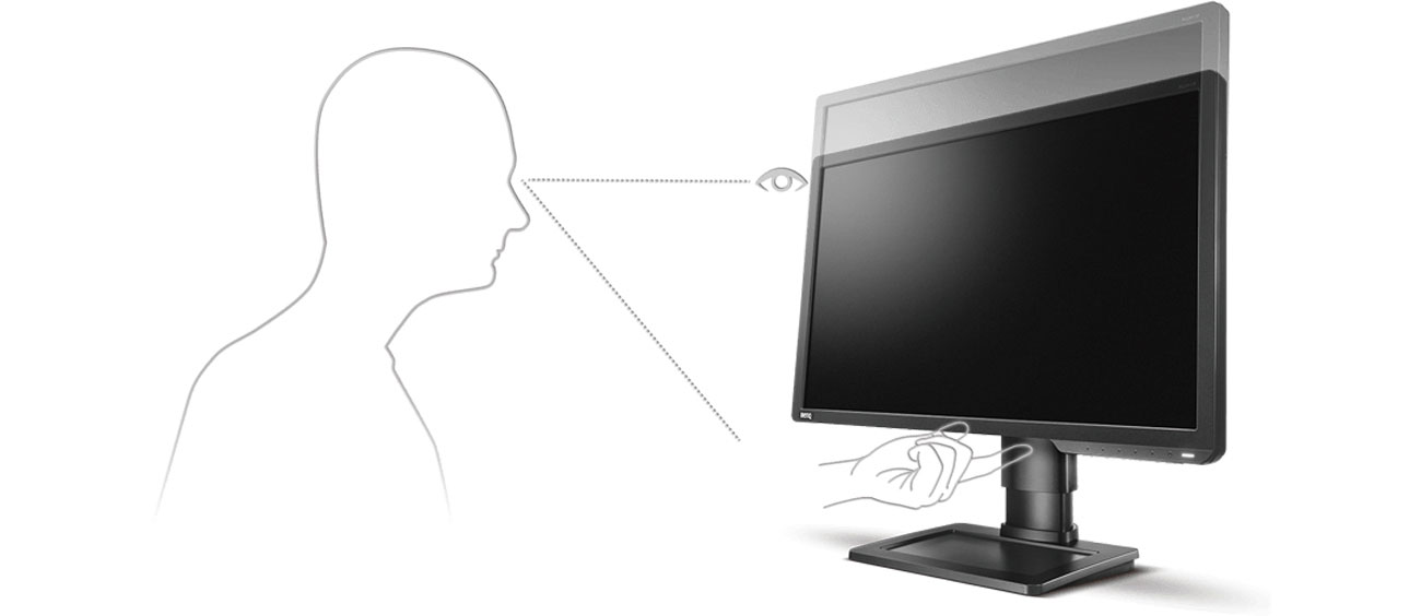 BenQ ZOWIE XL2411P Regulacja wysokości ekranu