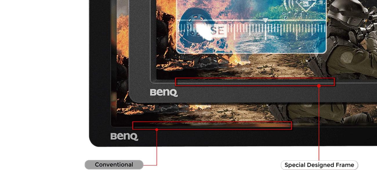 BenQ ZOWIE XL2411P Ramka minimalizująca odbicia światła