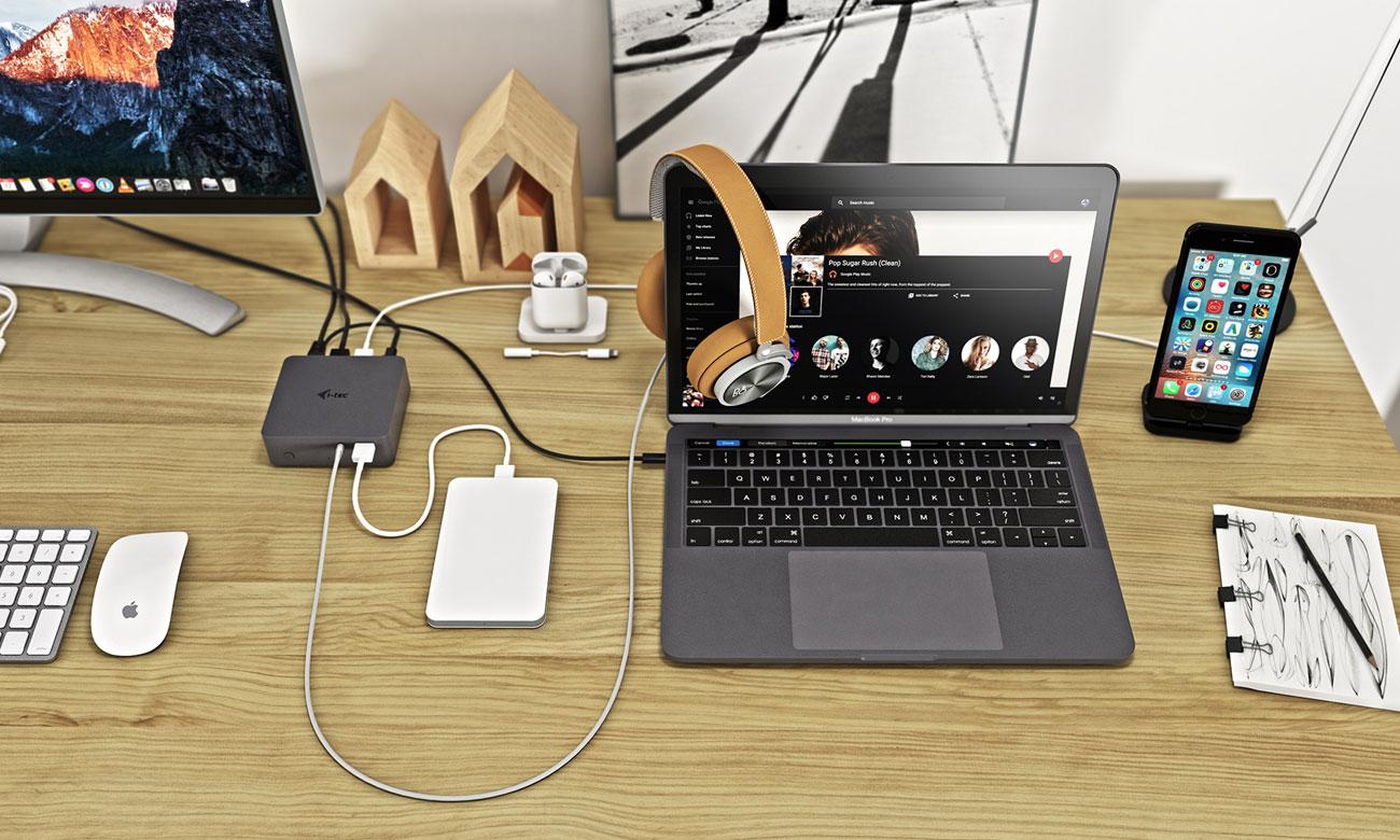 Stacja dokująca do laptopa i-tec USB-C Metal 4K - HDMI, 4xUSB C31METAL4KDOCKPD