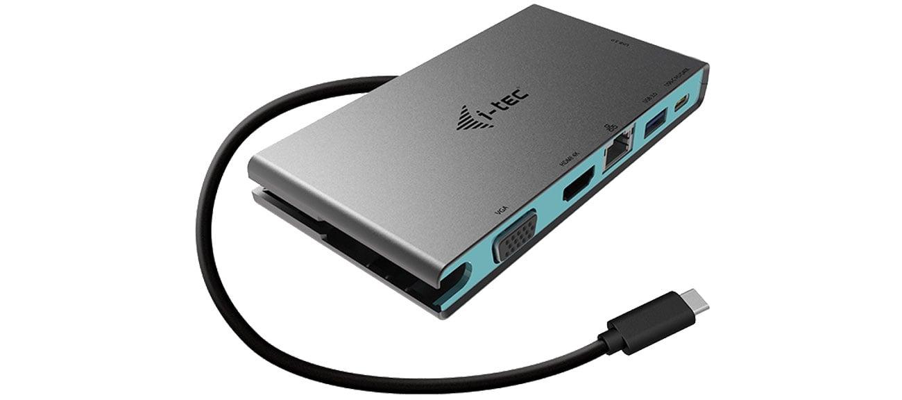 Stacja dokująca i-tec USB-C Travel 4K HDMI VGA Ethernet PD C31TRAVELDOCKPD20