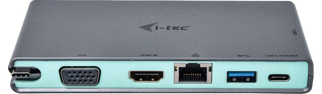 i-tec USB-C Travel 4K Złącza, porty