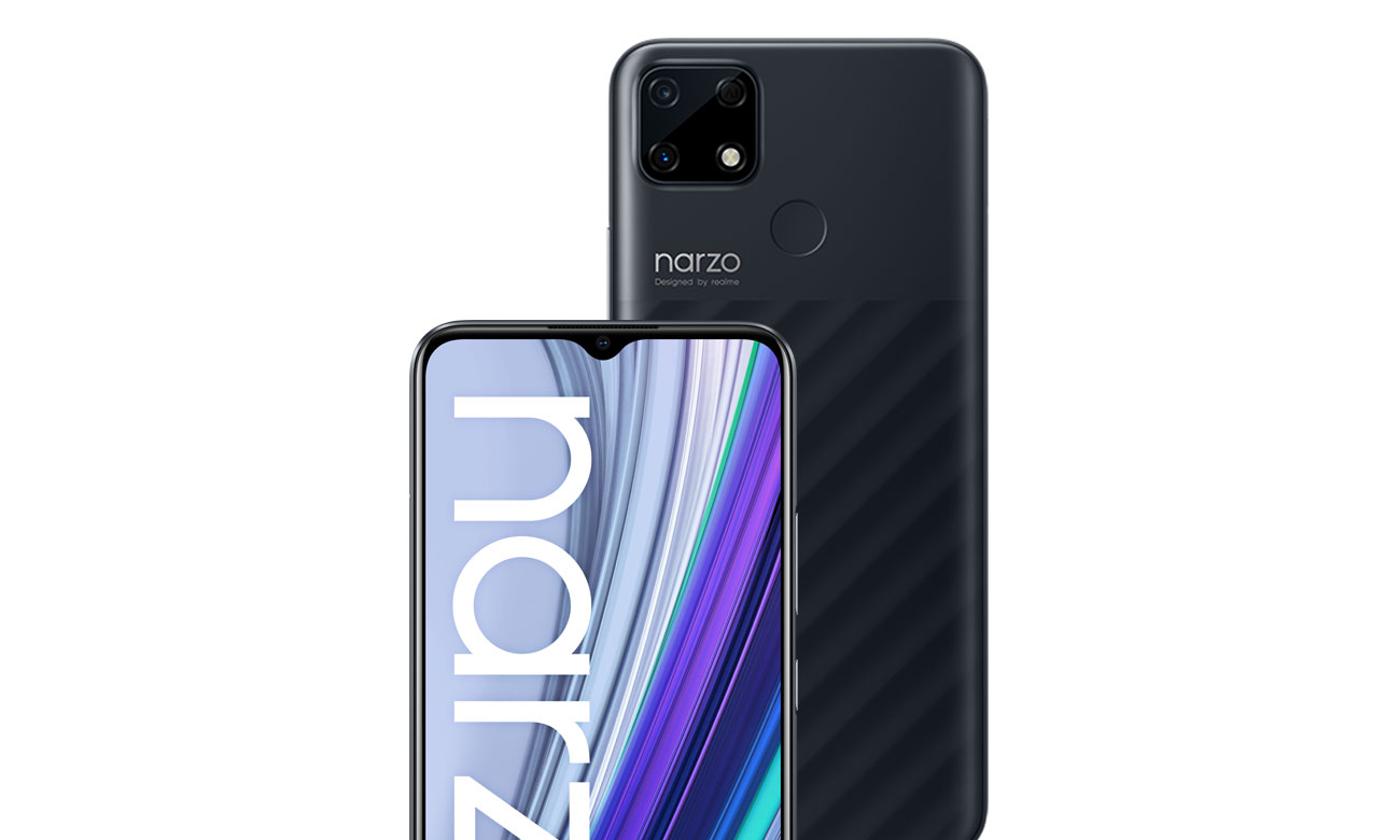 Smartfon realme Narzo 30A 32 GB black aparat