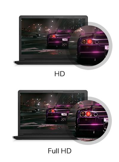 Rozdzielczość Full HD w HP Pavilion Power