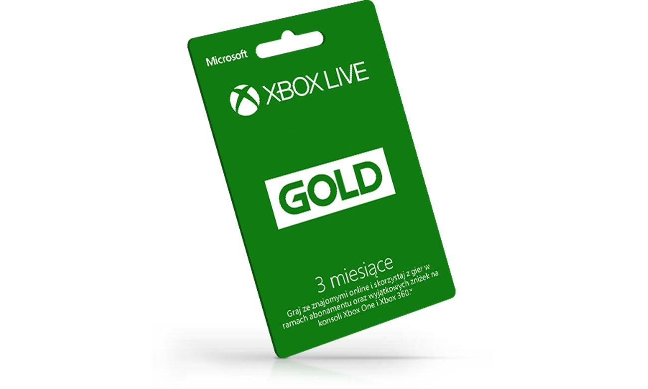 Konto Xbox Live Gold przez 3 miesięce